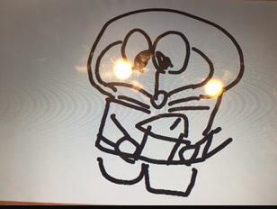 カラオケのお絵かき機能で友達が書いたドラえもん